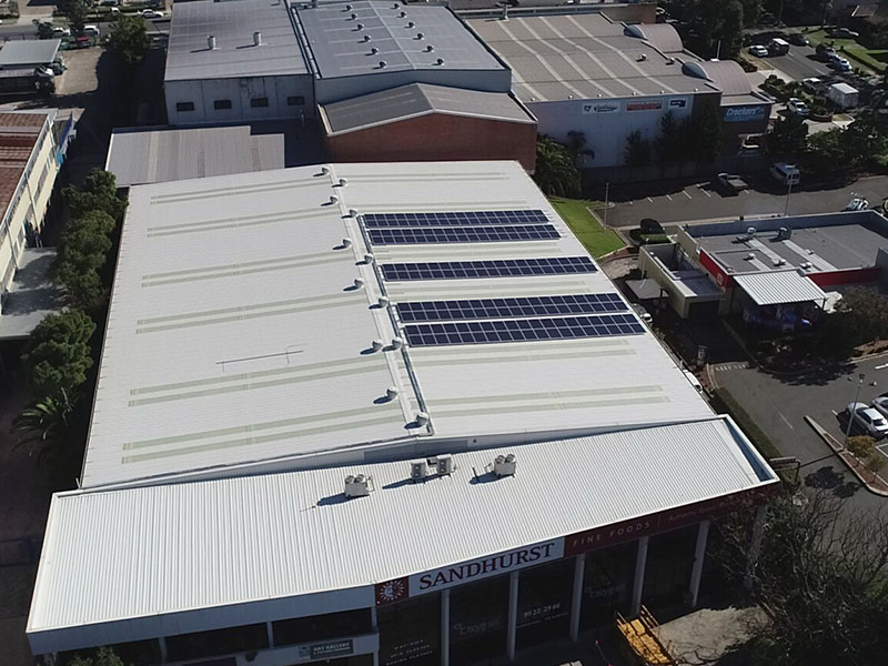 Commercial Solar Project Sandhurst Fine Foods