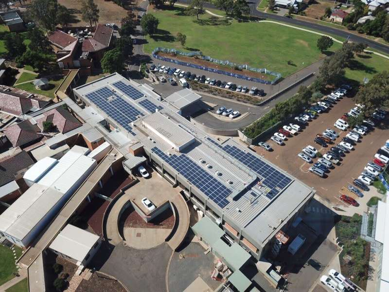 Commercial Solar Installation Project Griffith Hospital Australia